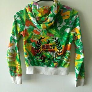 Juicy couture jungle printed hoodie